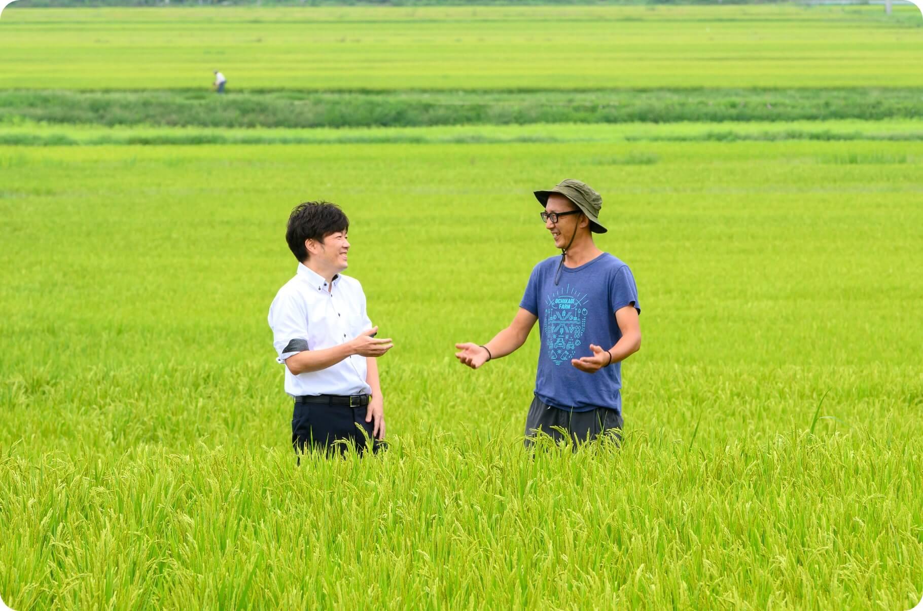 ベイクックと生産者様の画像|長野米の品質とベイクックの役割