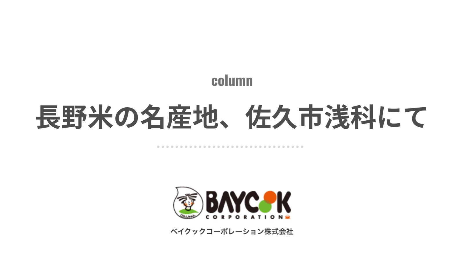 長野米の名産地、佐久市浅科にて。『五郎兵衞用水』の先人と新規就農した青年|ベイクックの長野米コラム